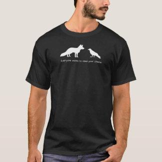 キツネ及びカラス Tシャツ