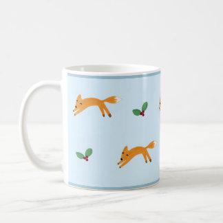 キツネ及び果実 コーヒーマグカップ