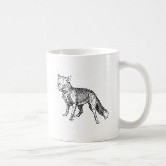 キツネ コーヒーマグカップ