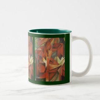 キツネ-フランツ・マルク(1913年)への尊敬 ツートーンマグカップ