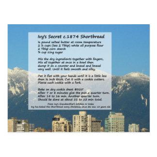 キヅタのショートブレッドのレシピの郵便はがき ポストカード