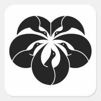 キヅタの葉の形のKorinスタイルクレーン スクエアシール