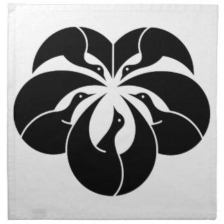 キヅタの葉の形のKorinスタイルクレーン ナプキンクロス