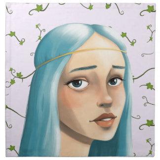 キヅタの青い毛の娘 ナプキンクロス