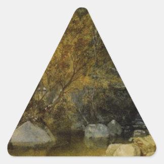 キヅタ橋、ウィリアムターナー著Devonshire 三角形シール
