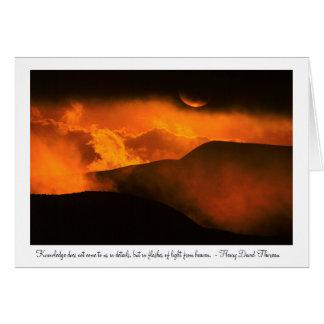 キト、エクアドル上の日没 カード