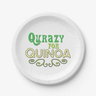 キノアの© -おもしろいなキノアのスローガンのためのQurazy ペーパープレート
