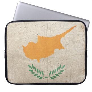キプロスからの旗が付いているラップトップスリーブ ラップトップスリーブ