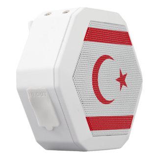 キプロスの北の旗 ホワイトBluetoothスピーカー