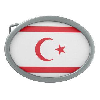 キプロスの北の旗 卵形バックル