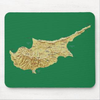 キプロスの地図のマウスパッド マウスパッド