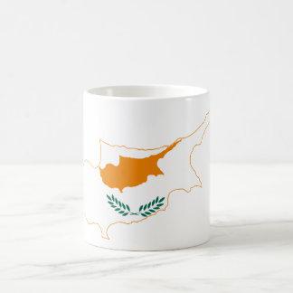 キプロスの旗の地図CY コーヒーマグカップ
