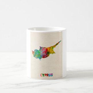 キプロスの水彩画の地図 コーヒーマグカップ