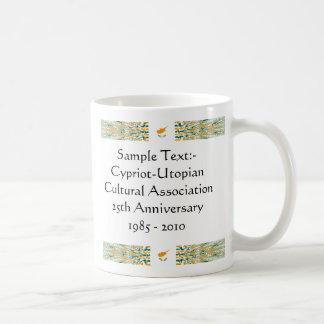 キプロスのeTextの~のFlagcolorの地図のマグ コーヒーマグカップ