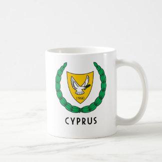 キプロス-紋章か旗または紋章付き外衣か記号またはヨーロッパ コーヒーマグカップ