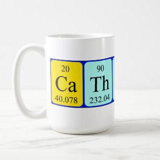 キャサリンの周期表の名前のマグ コーヒーマグカップ