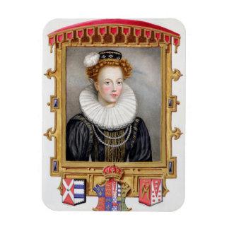 キャサリン・パーの(1512-1548年の)第6妻のポートレート マグネット