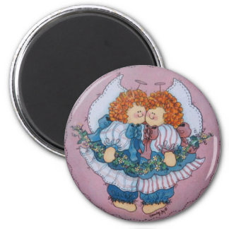 キャシーおよびClarissaの双生児の天使の磁石 マグネット