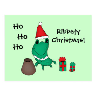 キャシーのかわいいクリスマスのカエル ポストカード