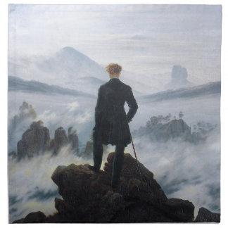 キャスパーデイヴィッド著霧の海の上の放浪者 ナプキンクロス