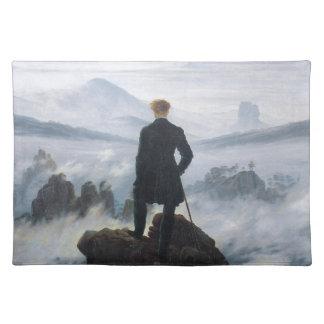 キャスパーデイヴィッド著霧の海の上の放浪者 ランチョンマット