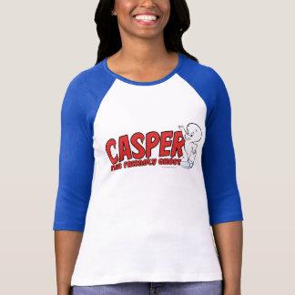 キャスパーフレンドリーな幽霊の赤いロゴ2 Tシャツ