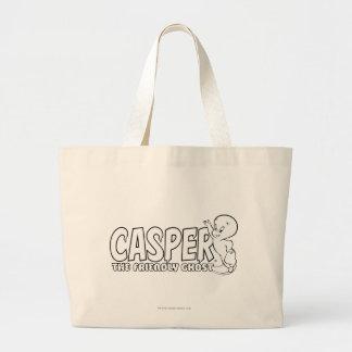 キャスパー友好的な幽霊のロゴ2 ラージトートバッグ