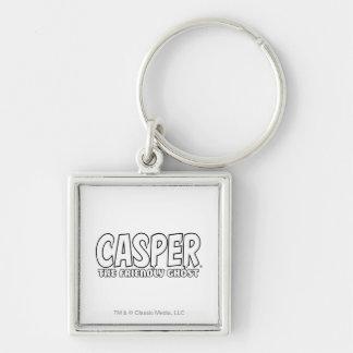 キャスパー友好的な幽霊の白のロゴ キーホルダー