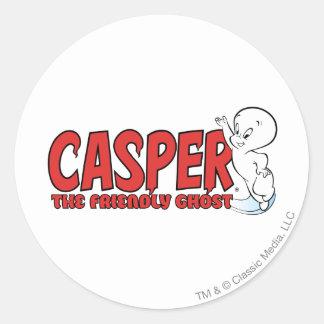 キャスパー友好的な幽霊の赤いロゴ2 ラウンドシール