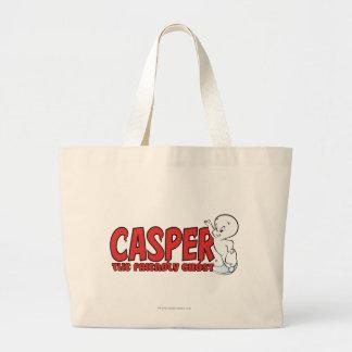 キャスパー友好的な幽霊の赤いロゴ2 ラージトートバッグ