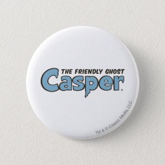 キャスパー友好的な幽霊の青いロゴ2 5.7CM 丸型バッジ