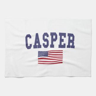 キャスパー米国の旗 キッチンタオル