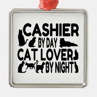 キャッシャー猫好き メタルオーナメント