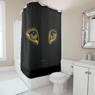 キャッツ・アイのシャワー・カーテン シャワーカーテン