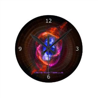 キャッツ・アイの星雲 ラウンド壁時計