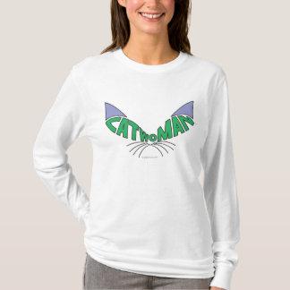 キャットウーマンのロゴの緑 Tシャツ