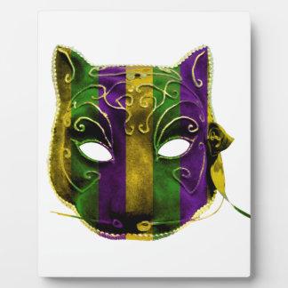 キャットウーマンの謝肉祭のマスク フォトプラーク