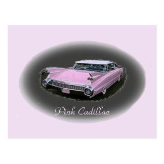 キャデラックのピンクのフラッシュ ポストカード