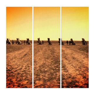 キャデラック牧場のヴィンテージの一見のトリプティクの芸術 トリプティカ