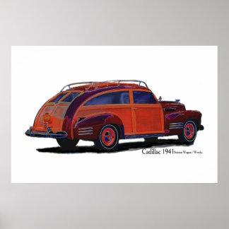 キャデラック1941のステーションワゴン/Woody ポスター