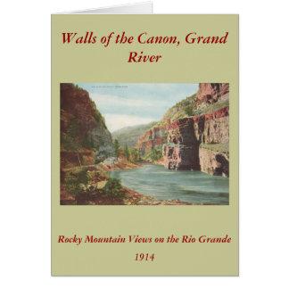 キャノンの壮大な川(渓谷)の壁 カード