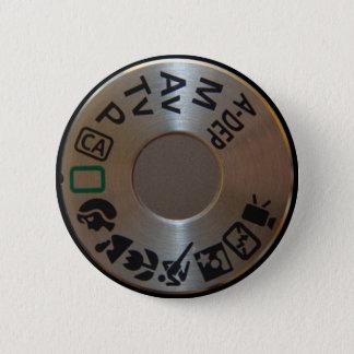 キャノン500Dモードダイヤルのバッジ 5.7CM 丸型バッジ