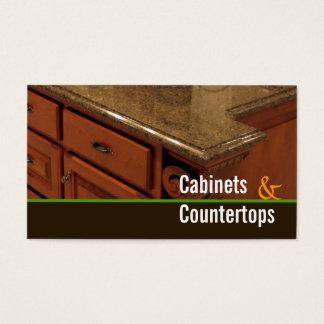 キャビネット、カウンタートップ、製造所の仕事の名刺 名刺
