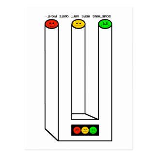 キャプションの不機嫌な信号Blivet ポストカード