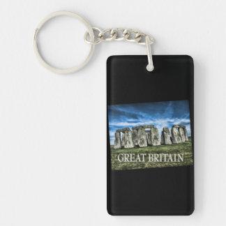 キャプションイギリスのStonehengeのイメージ キーホルダー