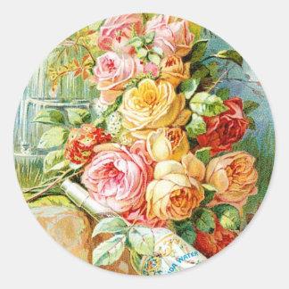 キャベツバラが付いているフロリダの香水水 ラウンドシール