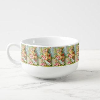 キャベツバラが付いているフロリダ水香水 スープマグ