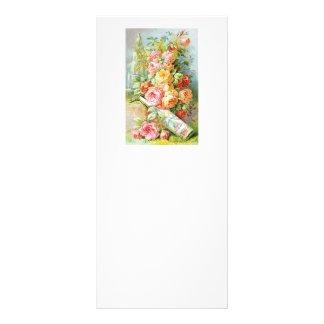 キャベツバラが付いているフロリダ水香水 ラックカード