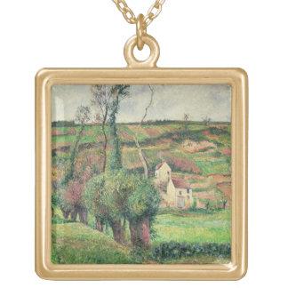 キャベツ斜面、Pontoise 1882年 ゴールドプレートネックレス