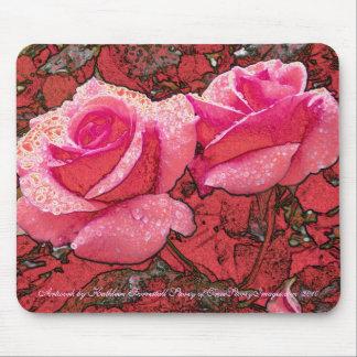 キャベツ畑のバラ マウスパッド